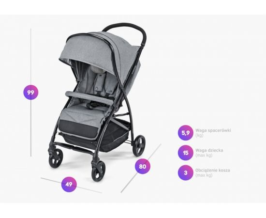 Carucior sport Sway 07 Gray 2019 - Baby Design, poza _ab__is.image_number.default