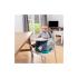 Booster pliabil Badabulle Home & Go, Grey, Culoare: Turquoise,poza 5